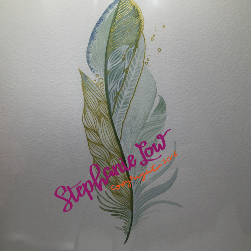 Watercolor feathers galore!